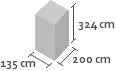 135cm x 200cm x 324cm(h)