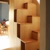 Soppalco Lucia: Foto scala con gradini a vista.