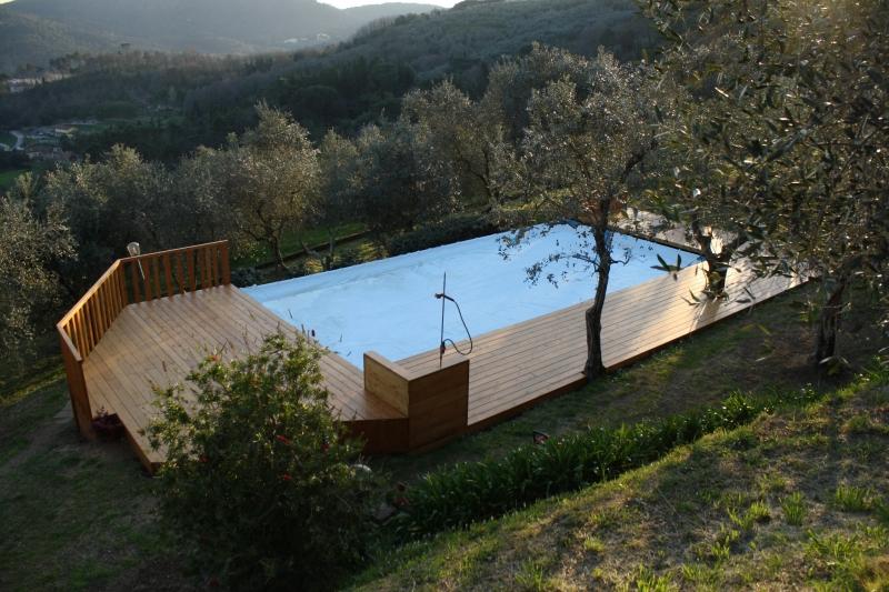 Piscina Promenade: Foto del pavimento in legno di una piscina