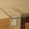 Tavolo Silber: particolare piano del vetro Float temperato
