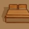 Letto Taita: Campione del legno di olivo